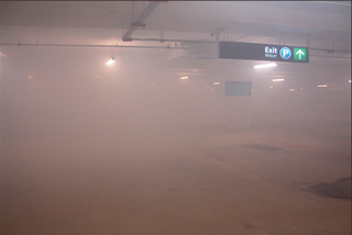 JetVent carpark at start; 8m visibility